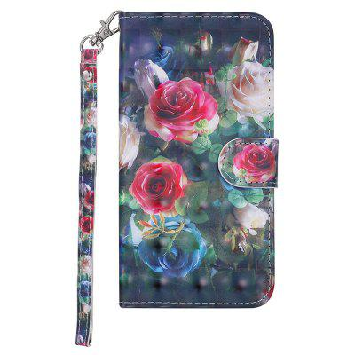 Cover for Huawei P9 Lite Mini Luxury 3D Painted Flip Wallet Phone Case