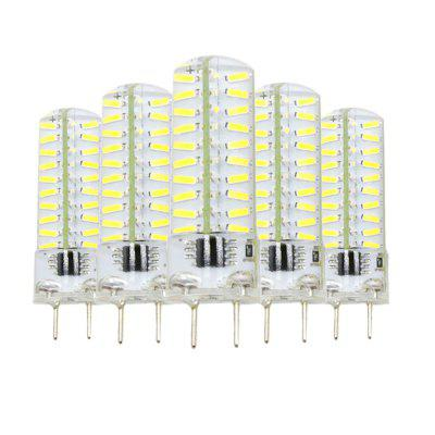 5PCS G8 Dimmable Silicone Lamp LED Bi-Pin Lights AC220 - 240V
