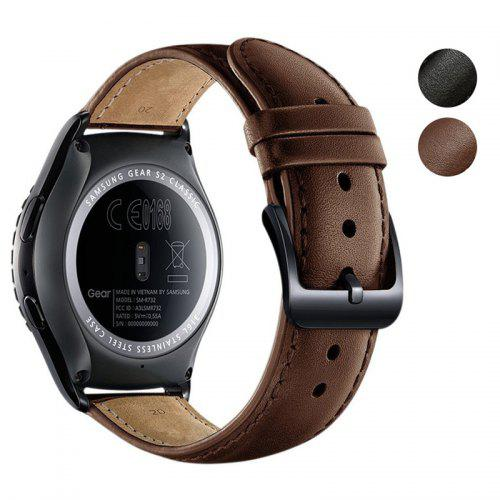 173347436 20MM Genuine Leather Watch Band Strap For Samsung Galaxy Watch 42MM ...