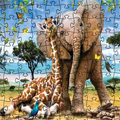 3D Jigsaw Paper Elephant Puzzle Block Assembly Birthday Toy