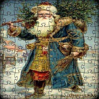 3D Jigsaw Old Man Paper Puzzle Block Assembly Birthday Toy