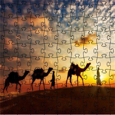 3D Jigsaw Desert Camel Paper Puzzle Block Assembly Birthday Toy
