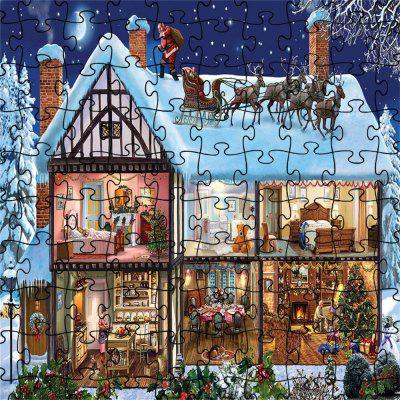 3D Jigsaw Paper Snow House  Puzzle Block Assembly Birthday Toy