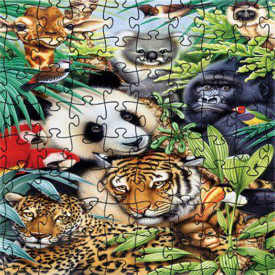 3D Jigsaw Paper Panda Puzzle Block Assembly Birthday Toy