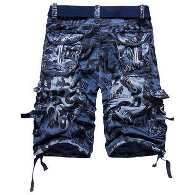 Men's Casual Fashion Camouflage Overalls Beach Pants Pants
