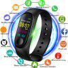 V5 M3PLUS Intelligent LED Color Screen Watch Sports Health Pedometer - MULTI-C
