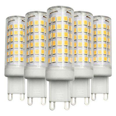 5PCS Dimmable G9 9W 76LED 2835SMD Led Ceramics Lamp AC 200 - 240V