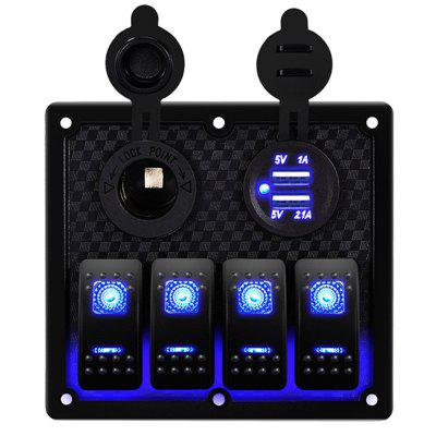 Car Marine Boat Circuit RV LED Toggle Rocker Switch Panel Breaker Voltmeter