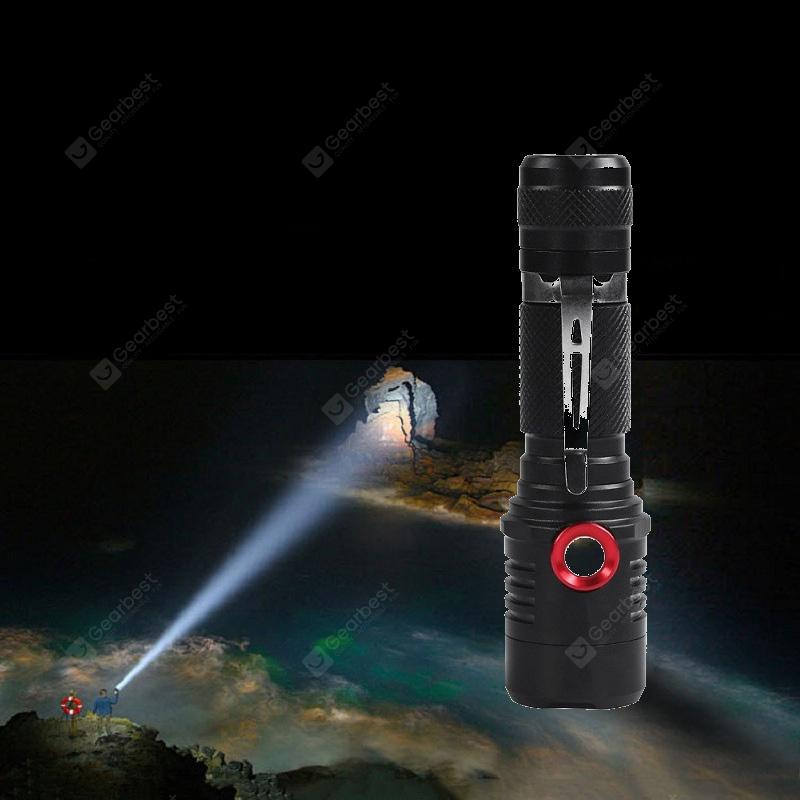 Powerful Super Bright LED Flashlight T6 20000 Lumens USB Charge with Battery Tor - White