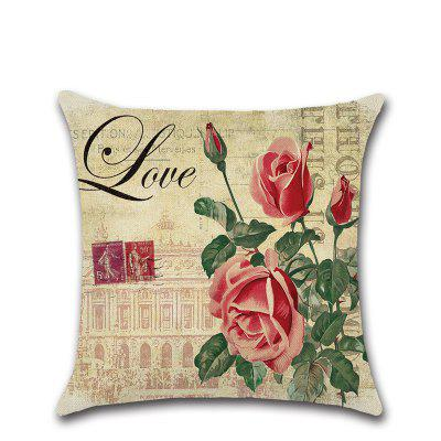 Country Rose Pillow Case Mediterranean North Car Cushion Cover