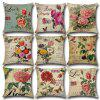 Country Rose Pillow Case Mediterranean North Car Cushion Cover - MULTI-F