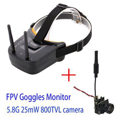 5.8G 40CH Dual Antennas FPV Goggles With 5.8G 25mW video transmitter camera