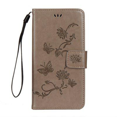 For iphone Xr Lotus Butterfly Wallet Bracket All Inclusive Phone Case