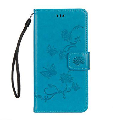 For iphone Xs Lotus Butterfly Wallet Bracket All Inclusive Phone Case