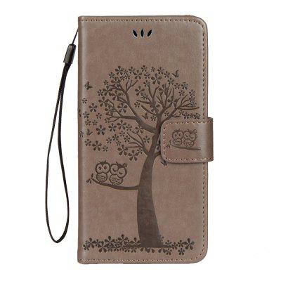 Pro iPhone Xs Max Owl Tree peněženka Bracket All Inclusive Telefon Case
