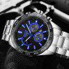 Fashion Men'S Business Steel Belt Sports Calendar Quartz Waterproof Watch - BLACK