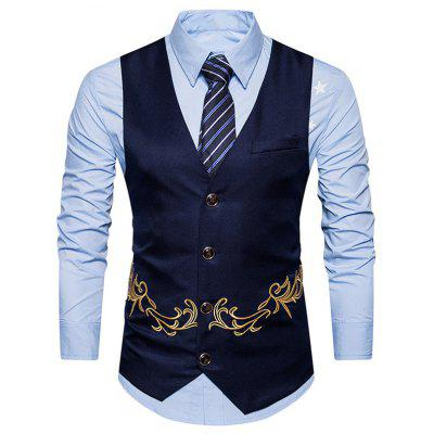 Men's Fashion Embroidered Casual Vest