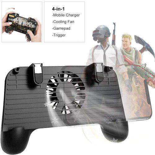 4in1 PUBG F1 Mobile Game Controller Trigger Cooling Gamepad