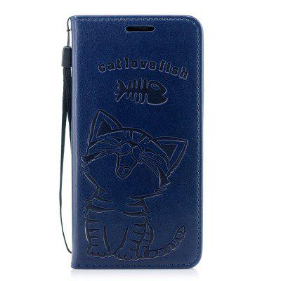 For iPhone Xsmax Cats Love To Eat Fish Wallet Bracket All Inclusive Phone Case
