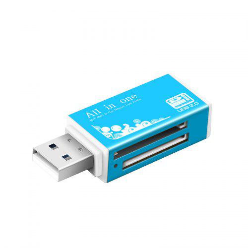 2x Protable 4 in 1 Memory Multi Cards Readers USB 2.0 for SD//TF//T-Flash//M2 Cards