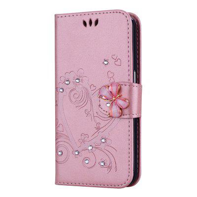 Luxury Diamond Butterfly Leather Wallet Case for Huawei Honor 5C