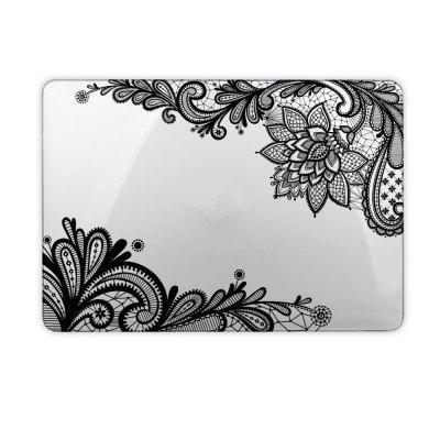 White Flower Protective  Hard Case for Apple MacBook Air 13