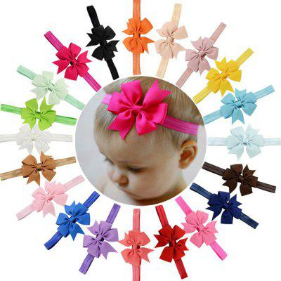 20-COLOR Children'S Hair Band Ribbon Fishtail Bow-Head Band