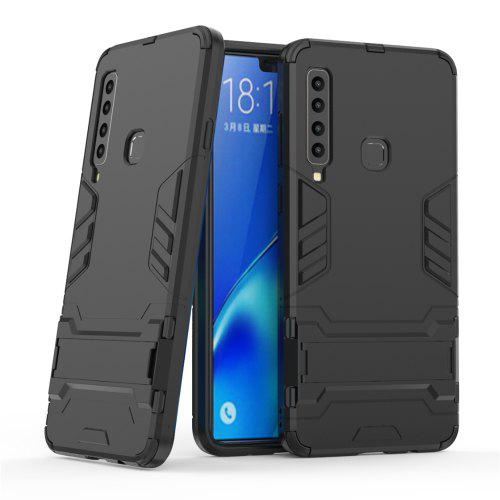 Armor Back Cover with Stand Solid Colored Hard for Samsung A9 2018