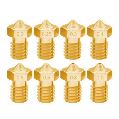 8PCS / LOT V5 V6 Duza 1.75mm Filament M6 Filet din alamă cu filet 3D