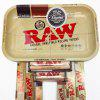 Natural Unrefined Iron RAW Rolling Papers Tray Smoke Smoke Accessories Tool - YELLOW