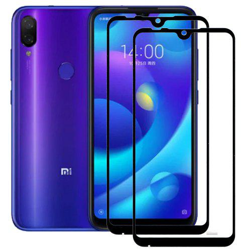2pcs Full Cover Tempered Glass Screen Protectors for Xiaomi Mi Play