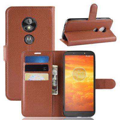 For MOTO E5 PLAY GO Card Protection Leather Cover Case