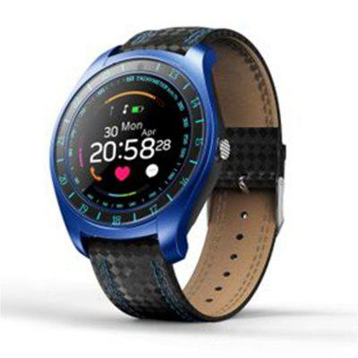 V10 Smart Watch Heart Rate Monitor Step Camera Android SIM TF Sports Watch Image