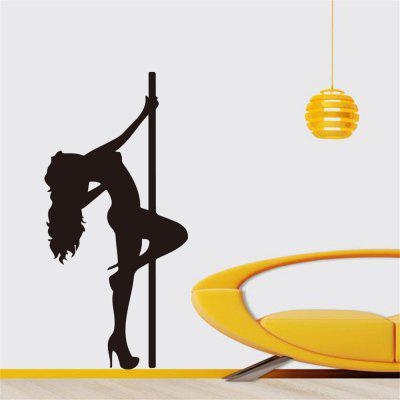 Exy Steel Tube Dance Girls Creative Home Girls Bedroom Wall Decoration Removable