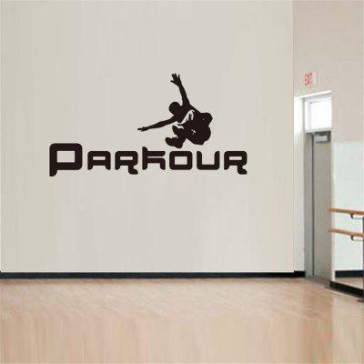 Parkour Sport Body-Building Home Decoration Wall Sticker Removable
