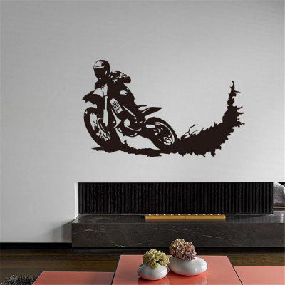 Motorcycle Wall Breaking Effect Home Wall Decal Sticker Removable Wall Sticer