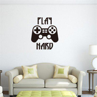 PLAY HARD Creative Game Handle Game Room Wall Decoration Sticker Removable