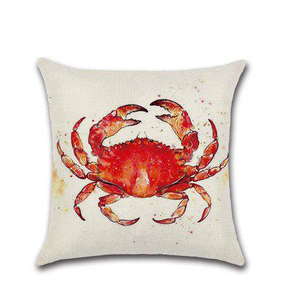 Dolphin Crab Whale Turtle Linen Pillow Case Cushion Cover