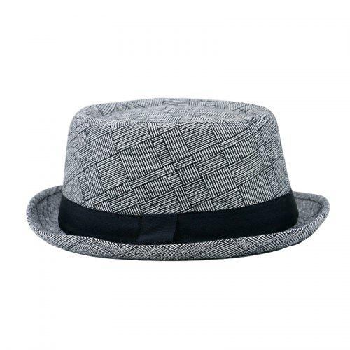 681526a27 Cotton and Linen Hat Gentleman Hat + Code 58CM Head Circumference