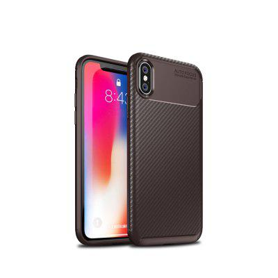Para o iPhone X Fibra De Carbono Anti-Drop Matte Phone Shell