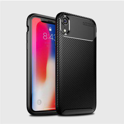 Voor iPhone XR Koolstofvezel Anti-Drop Matte Telefoon Shell