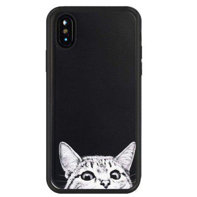 White Cat Slim Fit Anti Scratch Shock Proof Dust Proof  TPU for iphone X
