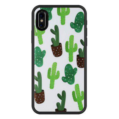 Green Cactus Anti Scratch Shock Proof Dust Proof  TPU for iphone X