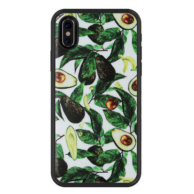 Green Leaves Slim Fit Anti Scratch Shock Proof Dust Proof  TPU for iphone X