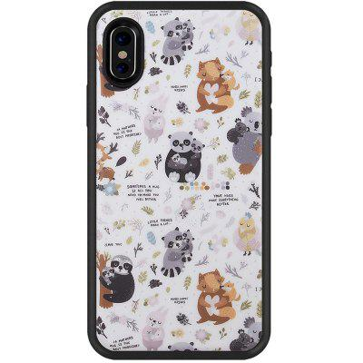 Animal Series Slim Fit Anti Scratch Shock Proof Prueba de polvo TPU para iphone X