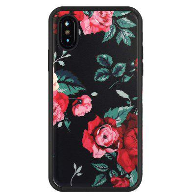 Black and Red Anti Scratch Shock Proof Dust Proof  TPU for iphone X