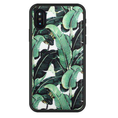 Big Leaves Anti Scratch Schokbestendig Stofdicht TPU voor iphone X