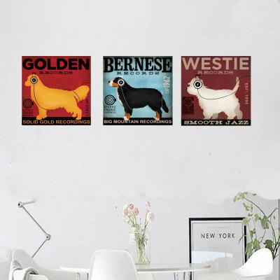 HD Impermeable Moda Decoración simple Impresión Poster Golden Retriever Dog2