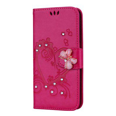 Luxury Diamond Butterfly Leather Wallet Case for iPhone 5 / 5S / SE