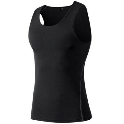 Men'S Running Fitness Quick-Drying Wicking Stretch Sports Vest